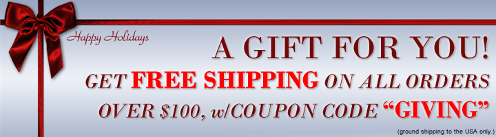 Free Shipping Over $100 - Holiday Promotion
